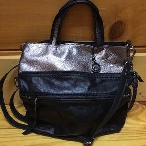 The Sak black the pewter leather purse